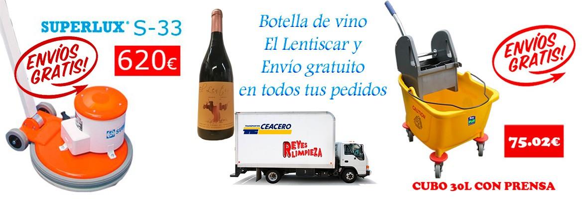 Envío gratuito y una botella de vino El Lentiscar de regalo